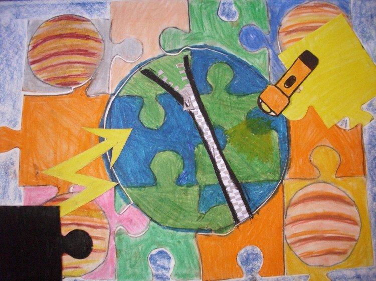 Prohlížíte si obrázky k článku: Planeta Země - výtvarná soutěž